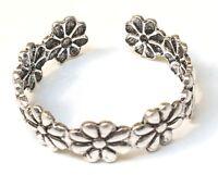 Handmade 925 Sterling Silver Dainty Daisy Chain Flower Toe Ring - 4.5 mm Wide