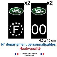 Stickers autocollant plaque d'immatriculation LAND ROVER voiture Fond noir NOIR