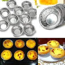 20 Pcs Disposable Aluminum Foil Baking Cookie Muffin Cupcake Round Egg Tart Mold
