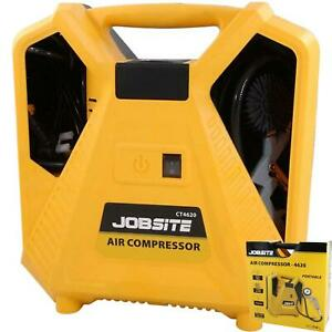 Jobsite 230V Portable Air Compressor 1100W Tyre Inflator Pool Air Bed Blow Gun