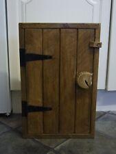 SOLID PINE WOOD WOODEN HANDMADE KITCHEN BATHROOM WALL CUPBOARD Horse Head Handle