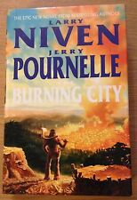 THE BURNING CITY Larry Niven & Jerry Pournelle Book (Hardback)