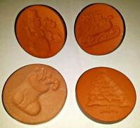 Lot of 4 Vintage Rycraft Cookie Craft Butter Stamp soften Brown Sugar Christmas