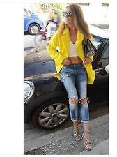 ZARA YELLOW MOHAIR BLAZER COAT WITH SLIT bloggers size m medium bnwt