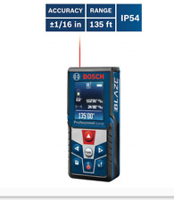 Bosch Glm 42 Blaze 135 Ft Outdoor Laser Distance Measurer With Backlit Display