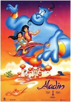 WALT DISNEY ALADDIN Original Czech A3 Movie Poster 1992 ROBIN WILLIAMS near mint