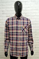 Camicia Uomo MARLBORO CLASSICS Taglia Size L Maglia Shirt Man Quadri Regular Fit