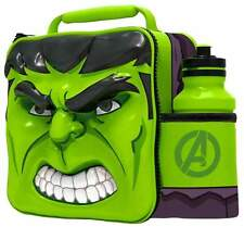 Marvel Avengers Hulk Thermal 3D Lunch Bag Box & Drink Bottle School Set 53858