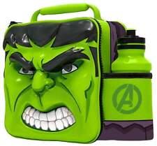 Marvel Avengers Hulk Thermal 3D Lunch Bag Box & Drink Bottle Set 53858