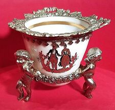 1920's Mini Vase Candle Perfume Vanity Holder Bronze Angel jar Stand #44 of 244