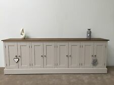 8ft New Solid Pine Painted Sideboard / Dresser Base - Kitchen Unit