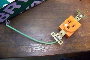 new bryant 5461-IG nylon 2 pole 20 amp 250 volt receptacle