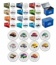 2017 50c FORD HERITAGE 12 COINS TIN + 2016 50c HOLDEN HERITAGE 11 COINS (NO TIN)