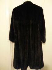Blackglama Black Mink Fur Coat - Size 6