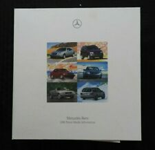 1998 MERCEDES-BENZ SL500 C E S CLK SLK M SL G CLASS Press Kit 35mm SLIDES CART