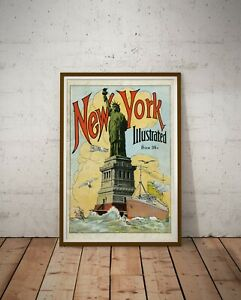 """1920's New York Illustrated POSTER! (up to full-size 24"""" x 36"""") - Reproduction"""