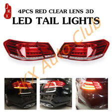 For Mercedes E Class W212 E350 E300 E250 Sedan 4 Dr 10-13 Red LED k Tail Lamp