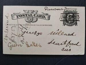 Minnesota: Groesbeck 1883 Postal Card, Unusual Bold Date MS, DPO Olmstead Co