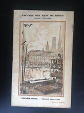 Ancien Programme Theatre des Arts de Rouen La favorite 1932