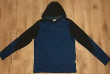 Mens UNDER ARMOUR Blue Sports Run Gym Fit Train Zip Neck Top Large