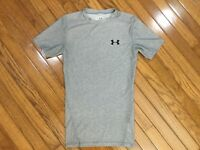 UNDER ARMOUR heat gear Men's Gray Athletic T-shirt Compression Size M