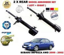 FOR SUBARU IMPREZA 1.6 2.0 AWD WRX 2000-2002 NEW 2X REAR SHOCK ABSORBER SET