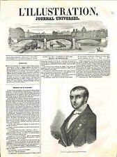 Portrait Gabrio Casati Président  Gouvernement Provisoire de Milan GRAVURE 1848