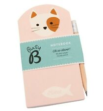 "Busy B ""Cute Cat"" Mini Notebook with Matching Pencil Cat Lover Latest Version"
