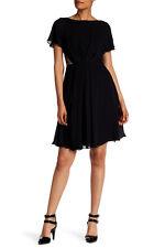 Jason Wu Black Lace Inset Silk Georgette Dress - Size 4 NWT $995