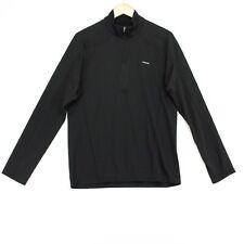 Patagonia Capilene 3 1/4 Zip Shirt Mens Medium Black Long Sleeve Midweight