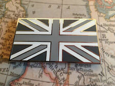 UNION JACK GB CAR BADGE FLAG WITH 3M S/A JAGUAR LAND ROVER TVR MG BLACK