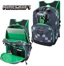 "New Minecraft 17"" Creeper Kids' Backpack Grey/Dark/Green MNCR1014TA-020"