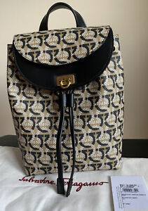 Salvatore Ferragamo Gancini Monogram Small backpack 21 H997/00 NWT