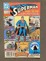 SUPERMAN 423 ALAN MOORE LAST ISSUE DC 1986 MAN OF TOMORROW Canadian Variant