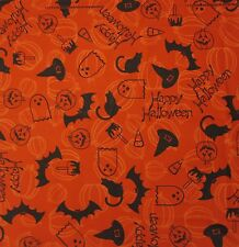 New MTL® Unisex Happy Halloween Bats Pumpkins Black Cats Bandana USA Made