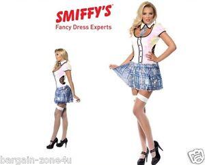 Smiffys Fever School Girl Bling Women Girls Fancy Dress Party Clothes Costume