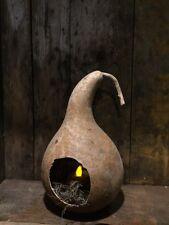Primitive Gourd Lantern Light Grubby Early Look  Farmhouse Cupboard Tuck