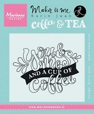 Marianne Design Clear Rubber Quote Stamps YOU & ME COFFEE (EN) KJ1709