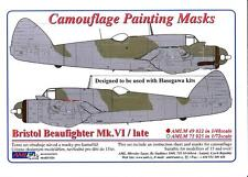 AML Models 1/48 CAMOUFLAGE PAINT MASKS BRISTOL BEAUFIGHTER Mk.VI NIGHT FIGHTER