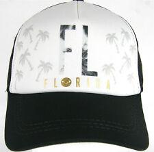 Roxy Snapback Cap FL Florida Coconut Grove Truckin  Beach Black  Surf Roxy Hat