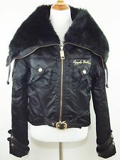 APPLE BOTTOMS Black Faux Fur Trim Jacket - Size XL - EUC!