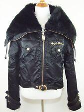 APPLE BOTTOMS Black Faux Fur Trim Jacket - Size XL - EUC!