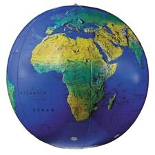 "Replogle 16"" Inflate-A-Globe Topographical (Dark Blue Ocean)"