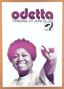 """ODETTA"" Denmark (1972) ""BLACK POWER = PEACE POWER"" Music Poster *PROTEST BLUES*"