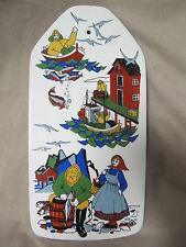 FIGGIO FLINT NORWAY TORSKEFISKE /FISHING VILLAGE SCENES LARGE TILE PLAQUE