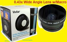 0.43x WIDE ANGLE LENS With MACRO 67mm HD4 to FUJI S100FS S200EXR SONY R1,L10 L1