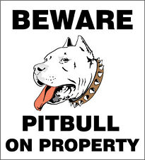 Cuidado Con Pitbull pegatina de parachoques de vinilo de calidad superior Con Adhesivo - 10 Cm X 10 Cm