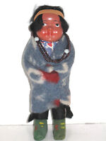 Antique Vintage American Indian Child Boy Blanket Native Doll Minnetonka Skookum