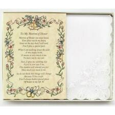 From the Bride to her Matron of Honor Wedding Handkerchief