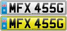 CHERISHED NUMBER PLATE -MFX 455G - MFX FERRARI 455 BIG BLOCK ENGINE V8 BUICK 455